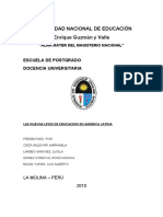 Las Nuevas Leyes de Educacion en America Latina