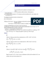 Testes de hipóteses (Tipos de erros I e II)