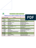 VIVIMED LABS - Product List for H&PC and Cosmetics Industry