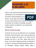 La alimentación y el cáncer de colon