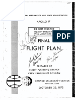 Apollo 17 Final Flight Plan