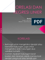 Korelasi Dan Regresi Linier
