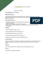 Est and Ares Criterios e Indicadores Para Evaluacion