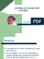 Hipoglicemia en El Recien Nacido