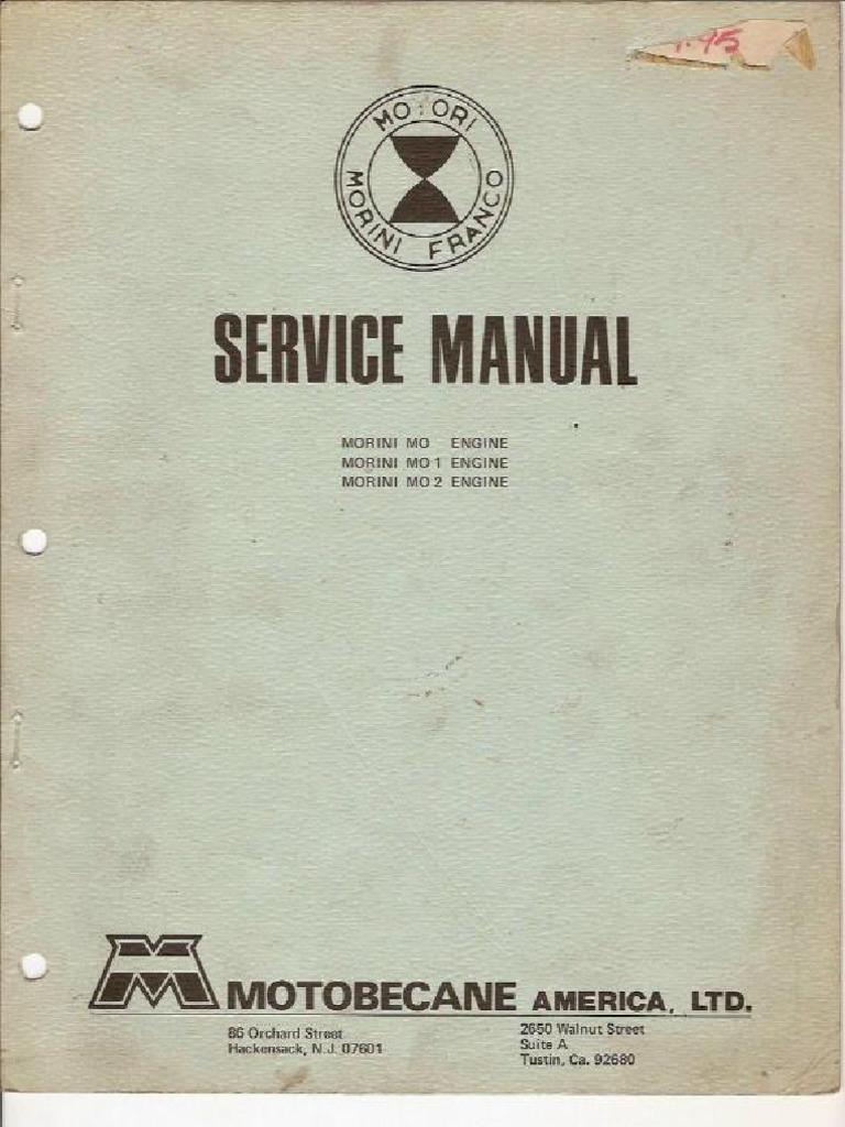 Franco Morini Mo Mo1 Mo2 Service Manual for moped engines