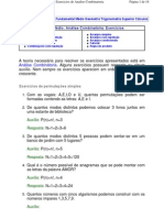 Exercicios Analise Combinatoria