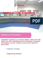 Best Practices of Simulator Training