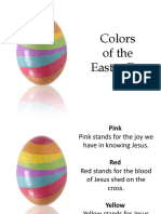 Colors of the Easter Egg