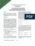 Using MATLAB@-Sirnulink@Fo r Transient Analysis
