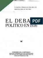 Tomo 14. El debate político en 1936