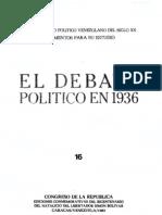 Tomo 16. El debate político en 1936