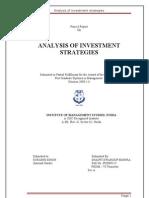 Analysis of Investment Strategie1