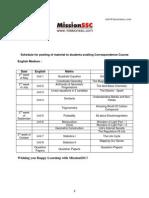 Mission SSC Schedule