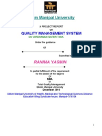 A Project Report on Quality Management System of Bardhaman Water Tank by Rani