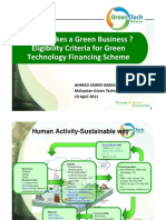 D2 What Makes a Green Business - Dissecting Eligibility Criteria for GTFS