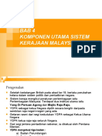 Bab 4 Komponen Utama Sistem Kerajaan Malaysia