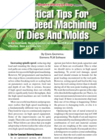 Practical Tips for High Speed Machining of Dies and Molds