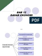 Bab 12 Dasar Ekonomi