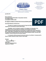 Congresswoman Karen Bass Letter on Mark Ridley-Thomas Motion