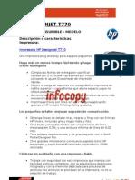 Toner original para impresora gran formato HP DESIGNJET T770