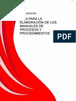 Guia Para La Elaboracion de Los Manuales de Procesos y Procedimientos