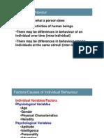 Unit 2-Individual Behaviour