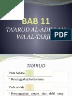 12 Ta'arud Al-Adillah Wa Al-Tarjih