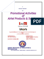 Promotional Activities of Airtel by Anil