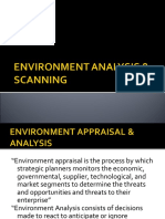 Environment Analysis & Scanning