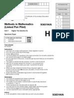 AQA 9365 1H W SQP Maths Paper