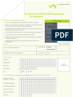 DSC Application for Individuals