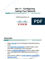 CCNA Exp1 - Chapter11 - Configuring and Testing Your Network