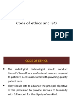 Code of Ethics and ISO