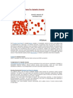 aplastic anemia case study Mild cases of aplastic anemia may be treated with supportive care,  director,  medex northwest division of physician assistant studies,.