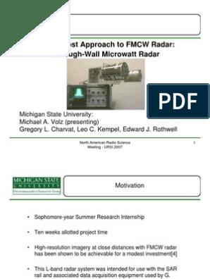 A Low-Cost Approach to FMCW Radar: Through-Wall Microwatt Radar