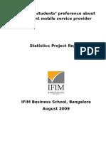 Statistics Project