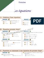 Chingatome-Troisième-Les équations