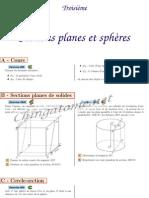 Chingatome-Troisième-Sections planes et sphères