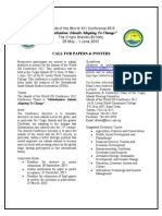 Islands of the World Conference 2012 Call for Papers and Posters