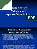 Titulaciones o Valoraciones espectrofotométricas
