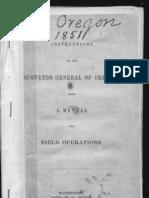 1851 Oregon Manual