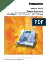 KX TDA100 Guia de Funciones