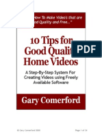 10 Tips for Good Quality Home Video