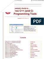 Free C++ and C Developers Tools
