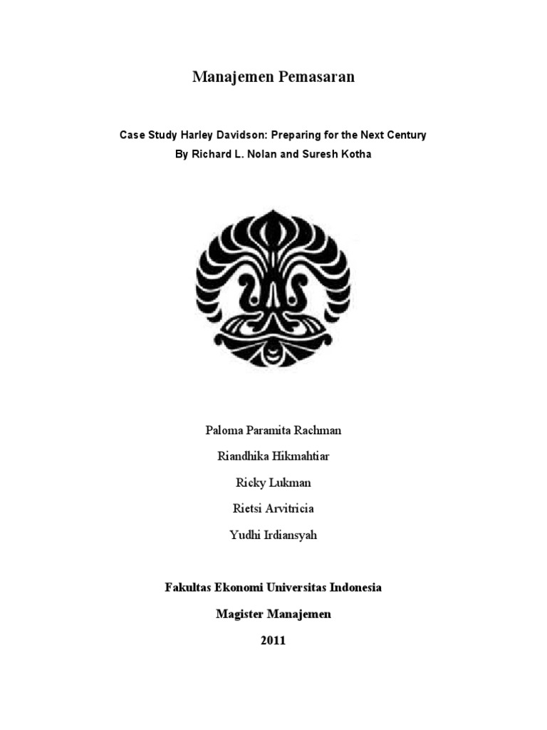 Harley Davidson Case Study | Harley Davidson | Enterprise ...