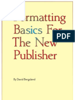 Formatting Basics for the New Publisher