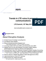 Disruptive Analysis - LTE Summit Voice Pres May 2011
