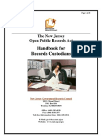 Custodians OPRA Handbook (Updated January 2011)