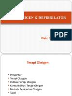 terapi oksigen & Defibrilator