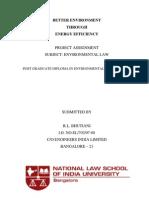 Better Environment Through Energy Efficiency - A Dissertation
